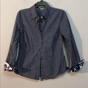 Boden Polka dot Button down Shirt Size 6R